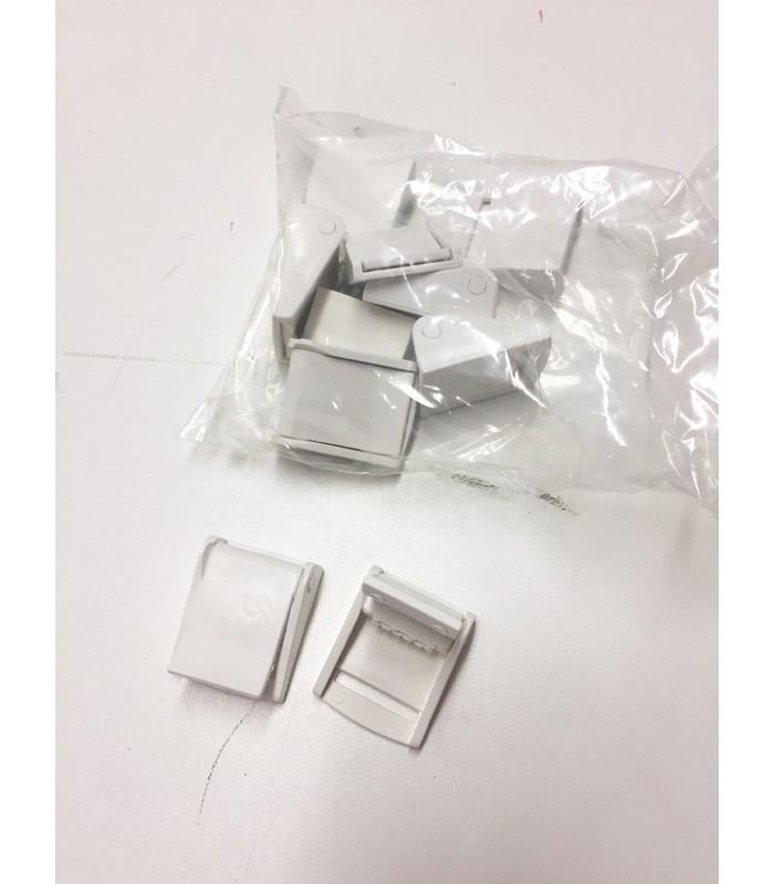 Schnallen Kunstoff weiß für 25 mm Gurtband